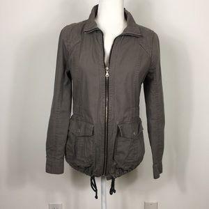Express Grey Zip Up Utility Jacket